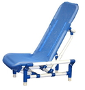 Generic 45-2202 Reclining Bath Chair With Safety Harness, Large/X-Large, Beach Bubble Blue