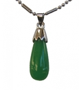 Feng Shui Import Drop-Shaped Jade Pendant - 1061