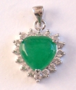 Feng Shui Import Jade Heart Pendants - 1146