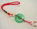 Feng Shui Import Jade Coin Charm - 1219