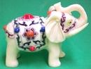 Feng Shui Import Ivory Elephant Figurines - 1280