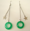 Feng Shui Import Jade Drop Earrings - 1384
