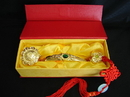 Feng Shui Import Golden Ru Yi Scepter with Auspicious Words - 1464