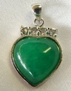 Feng Shui Import Jade Heart Pendants - 1511