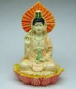 Feng Shui Import Small Guan Yin on Lotus - 2115