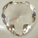 Feng Shui Import Heart Shape Clear Crystals - 2168