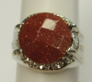 Feng Shui Import Red Goldstone Fashion Men Rings - 2254