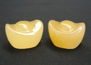Feng Shui Import Pair of Small Jade Ingots - 2800