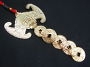 Feng Shui Import Fortune Bat with 5-Coin Talisman - 2850