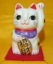 Feng Shui Import Lucky Cat with Left Hand Up - 2885
