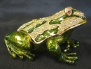 Feng Shui Import Bejeweled Metal Money Frog - 2976