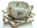 Feng Shui Import Porcelain Coffee Cup w/ Plate - 297