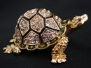 Feng Shui Import Bejeweled Big Metal Turtle - 2980