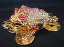Feng Shui Import Bejeweled Metal Three-Legged Toad - 2984