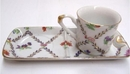 Feng Shui Import Porcelain Coffee Cup w/ Plate - 298