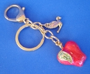 Feng Shui Import Bejeweled Apple Keychain - Ping Peace Amulet - 3028