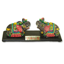 Feng Shui Import Pair of Elephant Statues - 3120