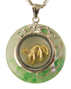 Feng Shui Import Golden Rat Pendant - 3157