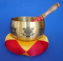 Feng Shui Import Singing Bowl with 8 Auspicious Objects - 3184