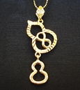 Feng Shui Import Double Wu Lou Necklace with Number 8 - 3416