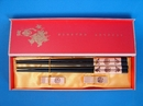 Feng Shui Import Chinese Chopsticks Set with Double Fishes and Good Blessings - 3469