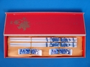 Feng Shui Import Porcelain Chopsticks with Pictures of Blue Dragons - 3471