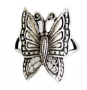 Feng Shui Import Silver Butterfly Ring for Ladies - 3477