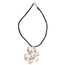 Feng Shui Import Silver Dragon Necklace - 3480