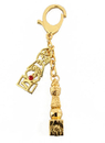 Feng Shui Import Double 5 Element Pagoda Keychain with Tree of Life - 3499