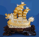 Feng Shui Import Big Wealth Boat Carrying Wealth - 3539
