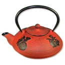 Feng Shui Import Red Cast Iron Teapot - 3585