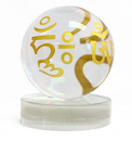 Feng Shui Import Crystal Globe with Omani - 3637