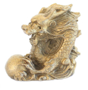 Feng Shui Import Metal Dragon Statue - 3714