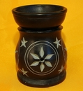 Feng Shui Import Black Stone Aroma Lamp for Oil - 3815