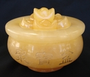 Feng Shui Import Yellow Jade Wealthy Pot with Ingots - 3899