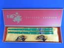 Feng Shui Import Green Wooden Chopsticks Set with Panda Pictures - 3960