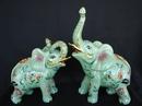 Feng Shui Import Green Elephants - 3977