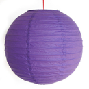 Feng Shui Import 2 of Purple Paper Lanterns - 3981