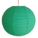 Feng Shui Import 2 of Green Paper Lanterns - 3984