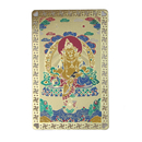 Feng Shui Import Yellow Dzambhala Talisman Card - 4053