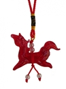 Feng Shui Import Red Glass Horse Charm - 4085