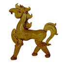 Feng Shui Import Orange Glass Horse Statue - 4087