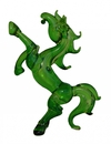 Feng Shui Import Green Glass Horse Statue - 4088