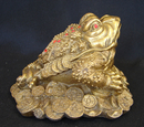 Feng Shui Import Brass Money Frog - 4119