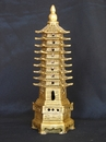 Feng Shui Import Brass 9-Level Pagoda - 4141