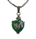 Feng Shui Import Heart-Shaped Jade Pendant - 4267