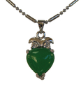 Feng Shui Import Heart-Shaped Jade Pendant - 4269