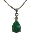 Feng Shui Import Drop-Shaped Jade Pendant - 4293