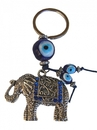 Feng Shui Import Elephant with Blue Evil Eye Protection Keychain - 4308
