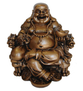 Feng Shui Import Chinese Buddha Statue on Dragon Chair - 4384
